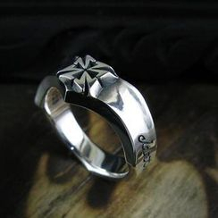 Sterlingworth - Tinted Sterling Silver Cross Ring