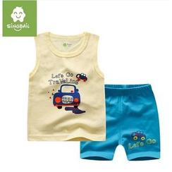 Endymion - Kids Set: Car Print Tank Top + Shorts