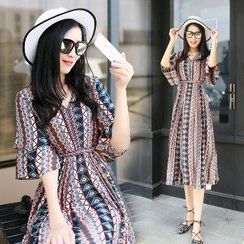 Romantica - Printed Maxi Dress