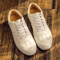 Hipsteria - Plain Lace-Up Sneakers