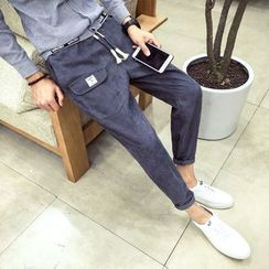 UTAN - Drawstring-Waist Slim-Fit Pants
