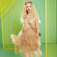 ELF SACK - Set: Long-Sleeve Dress + Slipdress
