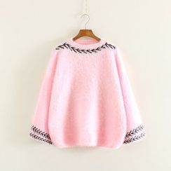 Mushi - Embroidered Thick Sweater