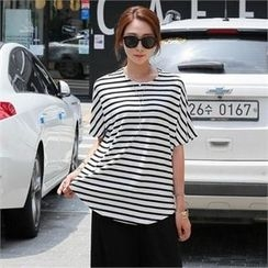CHICFOX - Round-Neck Striped Top