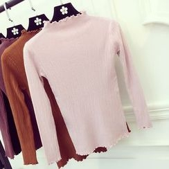 Honeydew - 荷葉邊針織套衫