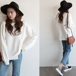 NIPONJJUYA - Asymmetric-Hem Cotton Sweatshirt