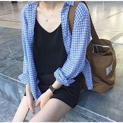 MATO - Gingham Long Sleeve Shirt