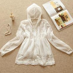 RGLT Scarves - Lace-Trim Light Jacket