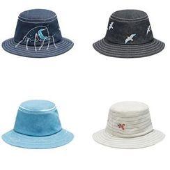 KIITOS - 刺繡牛仔布漁夫帽
