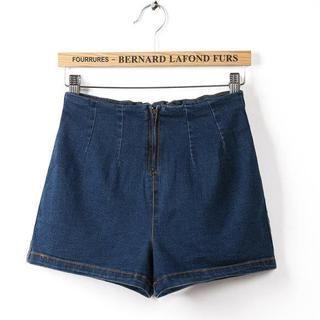 JVL - High-Waist Denim Shorts