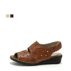 MODELSIS - Velcro Genuine Leather Sandals