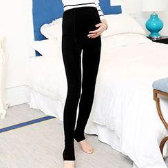 Crytelle - Fleece-Lined Maternity Leggings