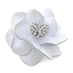 t. watch - White Leather Flower Charm