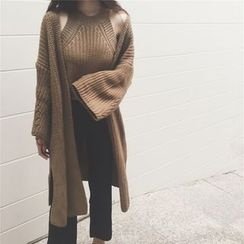 Octavia - Set: Knit Halter Top + Chunky Knit Cardigan
