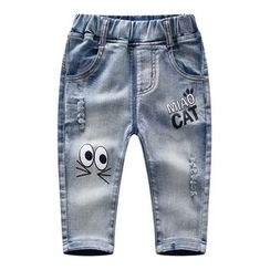 Endymion - Kids Printed Ripped Jeans