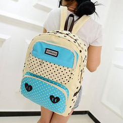 M.R. - Color-Block Dotted Backpack