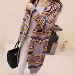 Hibisco - Patterned Long Cardigan