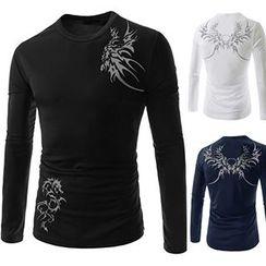 Fireon - 印花长袖T恤