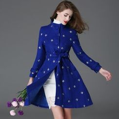 Elabo - Embroidered Wool Blend Coat