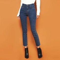 DABAGIRL - Brushed-Fleece Lined Skinny Jeans