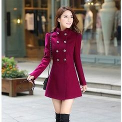 Sienne - Double-Breasted A-Line Coat