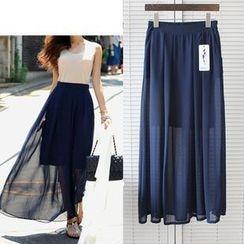 Sienne - Pleated Long Skirt