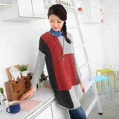 59 Seconds - Color-Block Sweater Dress