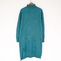 Polaris - Mélange Mock Neck Sweater Dress
