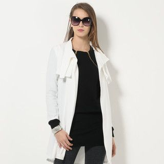YesStyle Z - Stand-Collar Cape Coat