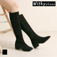Wifky - Chunky-Heel Tall Boots