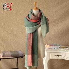 羚羊早安 - 撞色圍巾