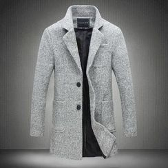 Alvicio - Notch Lapel Woolen Coat