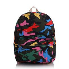 YUNA - Camouflage Canvas Backpack