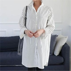 CHICFOX - Striped Long Shirt
