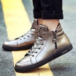 Ireoul - 侧拉链系带休閒鞋
