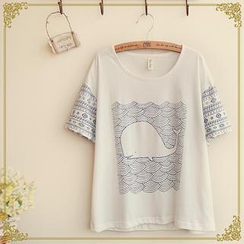 Fairyland - Whale Print T-Shirt