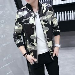 Best Gang - Camouflage-Print Zip Jacket