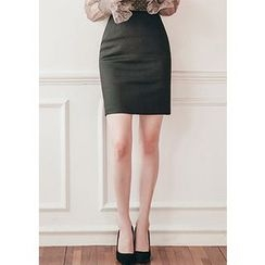 Chlo.D.Manon - High-Waist Mini Pencil Skirt