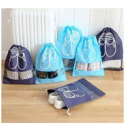 School Time - Drawstring Travel Shoe Organizer