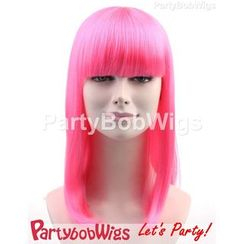 Party Wigs - PartyBobWigs - Party Long Bob Wigs - Pink