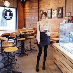 mimi&didi - Wrap-Front Miniskirt