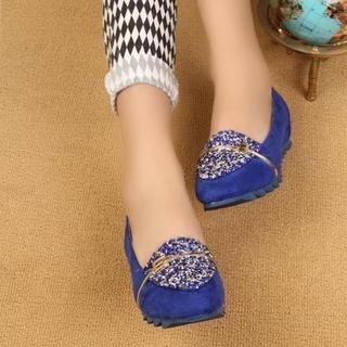 ZDJ Footwear - Glitter Panel Loafers