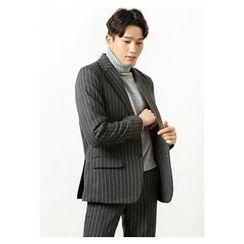 HOTBOOM - Wool Blend Stripe Blazer