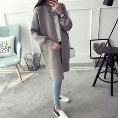 Qimi - Plain Long Cardigan