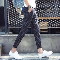 Bay Go Mall - Plaid Tapered Pants