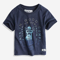Happy Go Lucky - Kids Lighthouse Print Short Sleeve T-Shirt