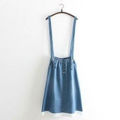 Vateddy - Denim Jumper Skirt