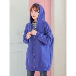 LOLOten - Pocket-Side Long Cotton Hoodie