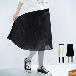 CatWorld - Inset Pleated Skirt Leggings