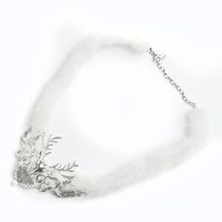MIPENNA - 雪白豔丽鹿头颈链